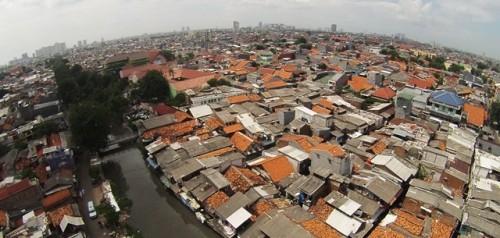 Pemukiman padat Johar Baru, Jakarta Pusat. Naiknya NJOP