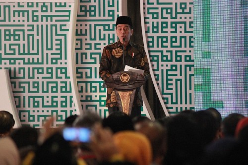 Presiden Joko Widodo. MI/BARY FATHAHILAH.