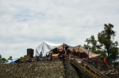 Ekskavasi di Teopanzolco di kota Cuernavaca. (Foto: AFP)