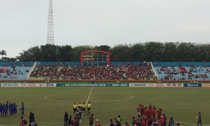 Suasana stadion Gelora Delta Sidoarjo (Foto: Gregah/Medcom.id)