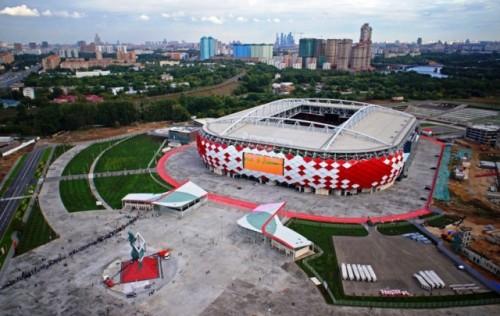 Spartak Stadium berjarak sekitar 14 kilometer dari ibukota