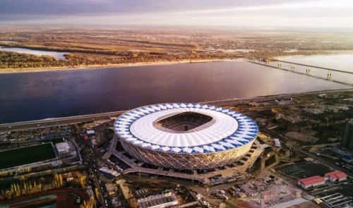 Volgograd Stadium adalah satu dari 10 stadion baru yang khusus
