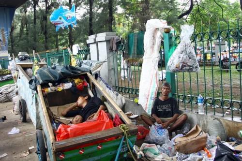 Kemiskinan. MI/Galih Pradipta.