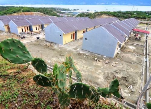 Komplek rumah murah layak huni di Palu, Sultra. Proyek KPR untuk