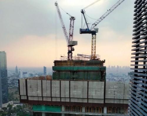 Proyek pembangunan tower Thamrin Nine Apartement sudah mencapai