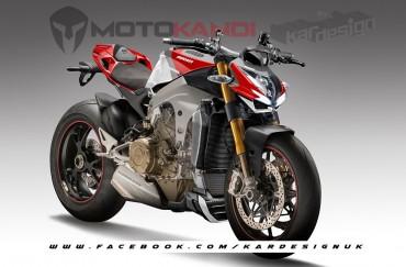 Naked Bike Ducati Bakal Pakai Mesin V4 ?