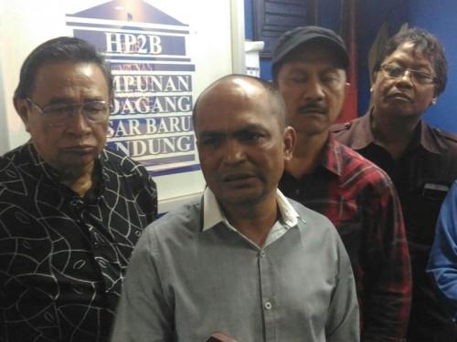 Sekjen Himpunan Pedagang Pasar Baru Bandung Iwan Suhermawan saat
