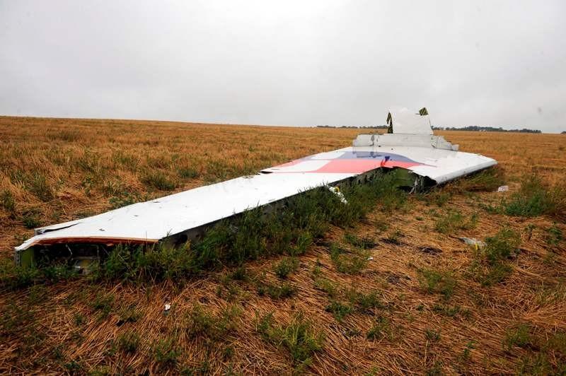 Salah satu puing pesawat Malaysia Airlines MH17 yang jatuh di Ukraina (Foto: AFP).