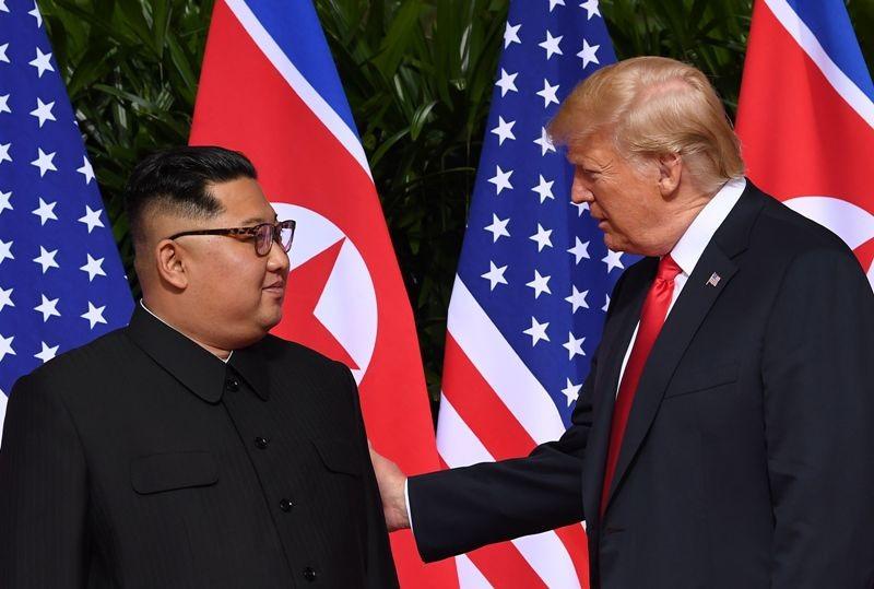 Isu jenazah prajurit AS dibahas dalam pertemuan Presiden Donald Trump dengan pemimpin Korut Kim Jong-un (Foto: AFP).
