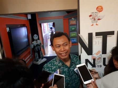 Komisioner KPU, Pramono Ubaid Tanthowi di gedung KPU, Jakarta,