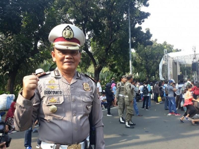 Kasubdit Gakkum Ditlantas Polda Metro Jaya, AKBP Budiyanto di Balaikota DKI Jakarta, Minggu, 8 Juli 2018. Foto: Medcom.id/ Sunnaholomi Halakrispen.