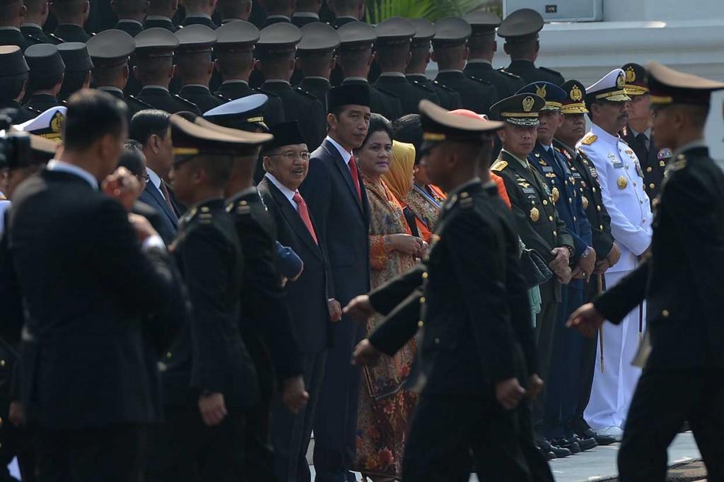 724 Perwira TNI-Polri Dilantik Jokowi