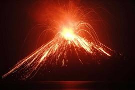 Erupsi, Anak Krakatau Keluarkan Lava Pijar
