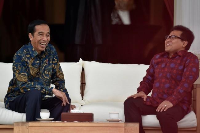 Presiden Joko Widodo menyebut Ketua Umum PKB Muhaimin Iskandar (Cak Imin) . Antara/ Puspa P