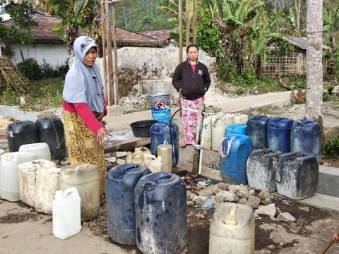 Warga Lereng Gunung Slamet Kesulitan Air Bersih