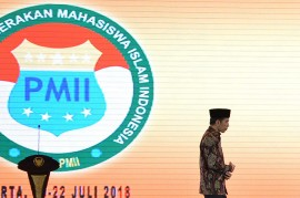 Jokowi Buka Munas VI Ikatan Alumni PMII
