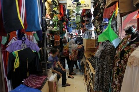Kondisi terkini kios di Lantai 1 Blok G Pasar Tanah Abang. MI/