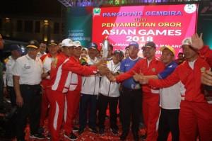 Pawai Obor Asian Games jadi Ajang Perkenalan Wisata di Malang