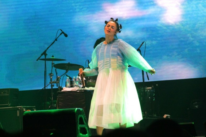 Andien di We The Fest 2018 (Foto: Medcom/Purba)
