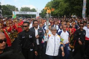 Banyuwangi Sambut Obor Asian Games dengan Atraksi Seni