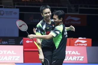 Kalahkan Tiongkok, Ahsan/Hendra Juara Singapura Terbuka 2018