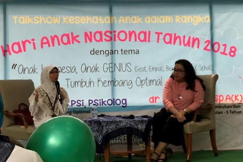 GENIUS, Ajak Anak Indonesia Jadi Sehat dan Tumbuh Kembang Optimal di Hari Anak Nasional 2018
