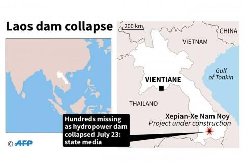 Bendungan di Laos Jebol, Ratusan Orang Hilang