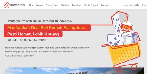 Dua ribuan rumah dan apartemen di timur dan selatan Jakarta