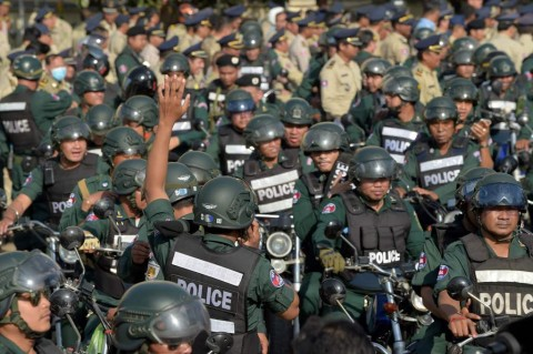 Hampir 5.000 Polisi Diturunkan Jaga Pemilu Kamboja