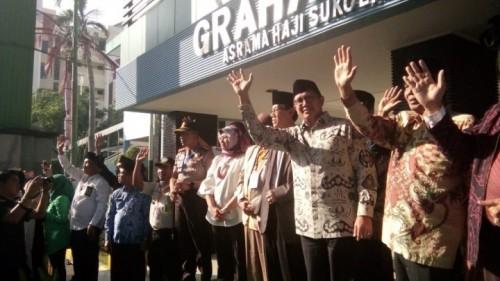 Ilustrasi: Menteri Agama Lukman Hakim Saifuddin saat melepas