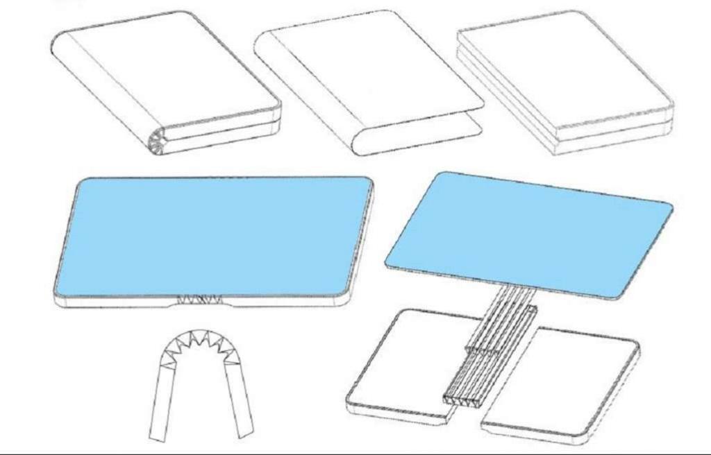 Desain smartphone layar lipat Huawei. (Letsgodigital)