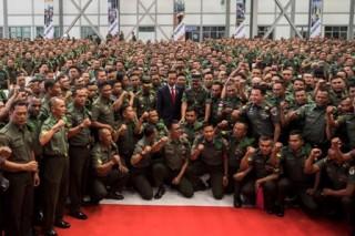 Jokowi: Babinsa Ujung Tombak Pengamanan Wilayah