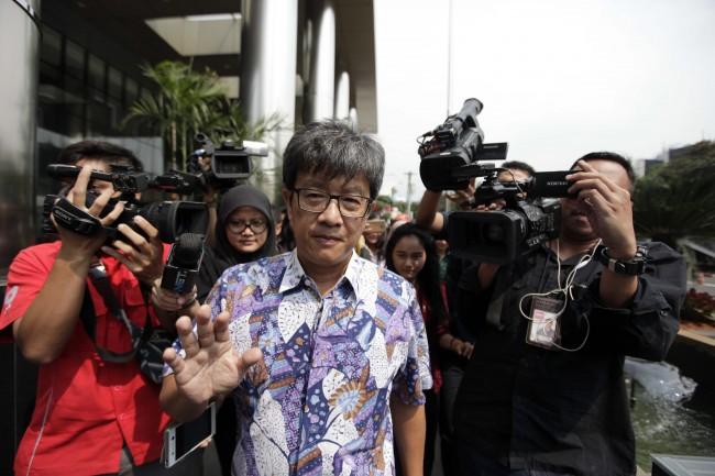 Eks Direktur Utama PT Quadra Solution Anang Sugiana Sudiharjo. Foto: MI/Rommy Pujianto.