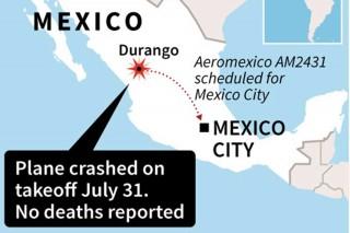 Pesawat Aeromexico Jatuh, Tak Ada Korban Tewas