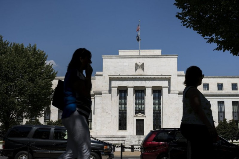 Gedung The Fed (Brendan Smialowski/AFP)