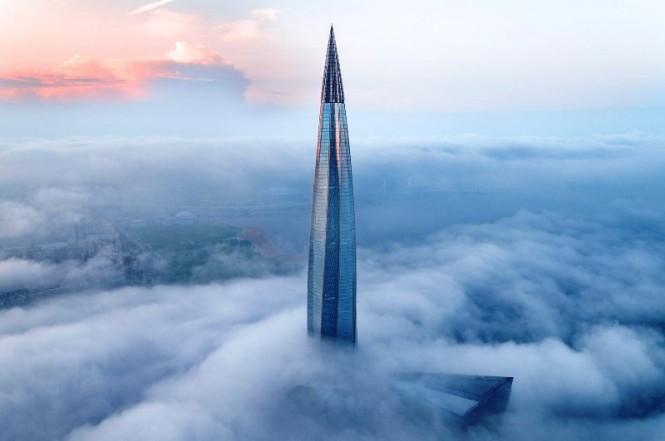 Tantangan utama membangun gedung tinggi, adalah mensiasati hembusan angin kencang yang dapat menumbangkan bangunan. dezeen/ Viktor Sukharukov