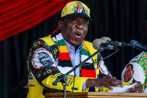 Emmerson Mnangagwa dari Partai Berkuasa Menang Pemilu Zimbabwe
