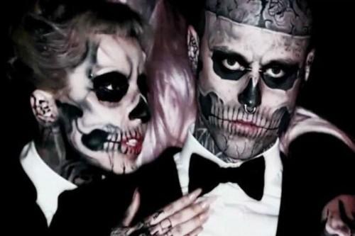 Lady Gaga dan Zombie Boy (Foto: Twitter)