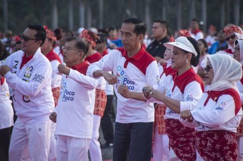 Jokowi Hadiri Pemecahan Rekor Dunia Senam Poco-poco