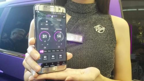 Kini perangkat audio Venom bisa dikendalikan melalui gawai.