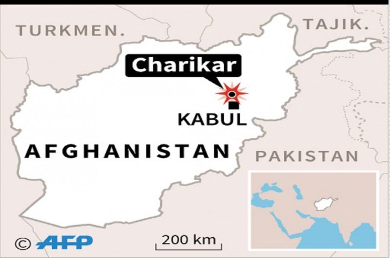 Grafis lokasi serangan bom bunuh diri di Charikar, Afghanistan, 5 Agustus 2018. (Foto: AFP)