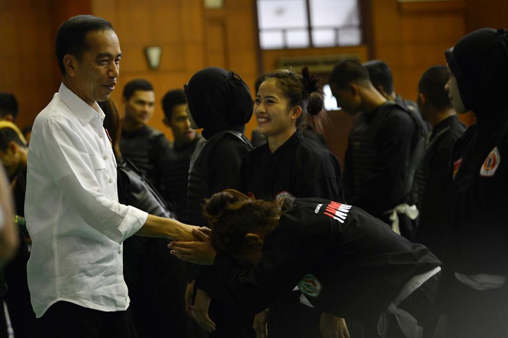 Jokowi Optimis Pencak Silat Raih Lebih dari Dua Emas di Asian Games