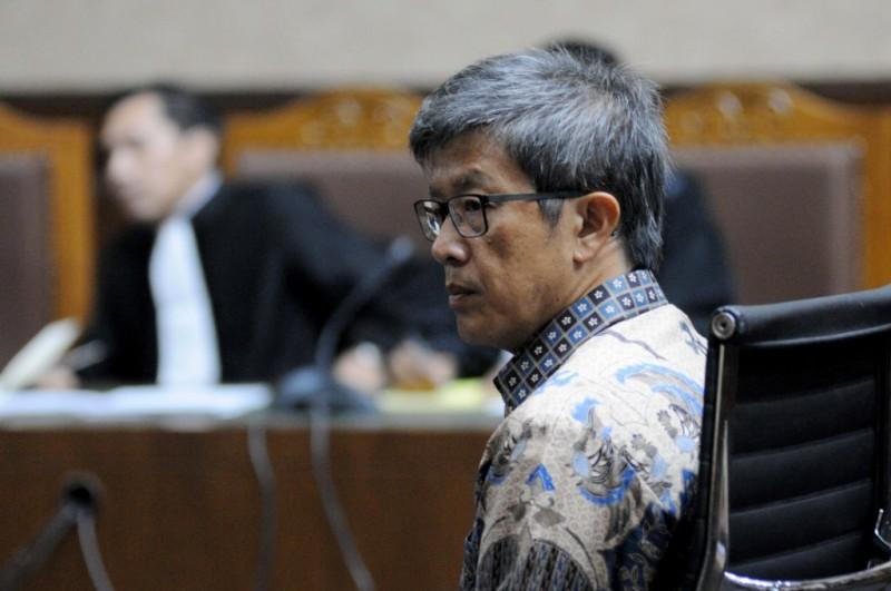 Mantan Direktur Utama PT Quadra Solution Anang Sugiana Sudihardjo menjalani sidang perdana kasus korupsi KTP-e di Pengadilan Tipikor. MI/M Taufan.