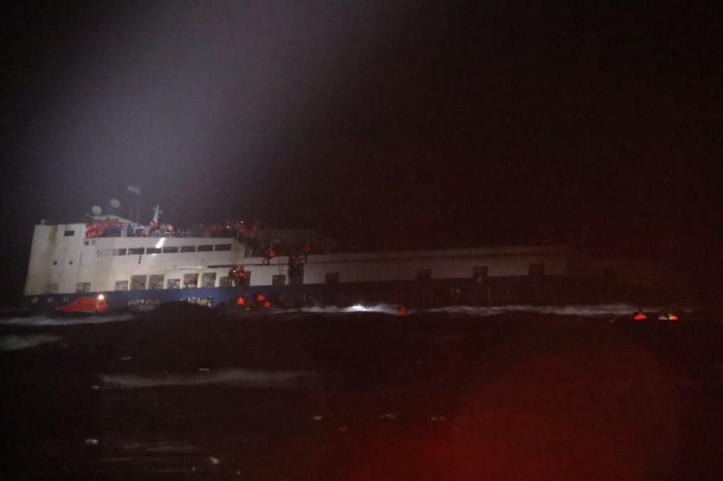 KM Lestari Maju yang karam di perairan Kepulauan Selayar. Istimewa