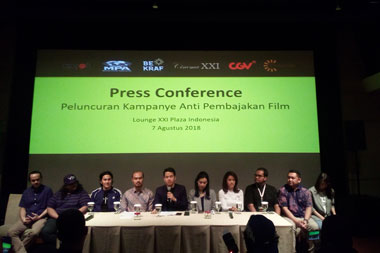 Jumpa media kampanye anti pembajakan film di Lounge Cinema XXI,