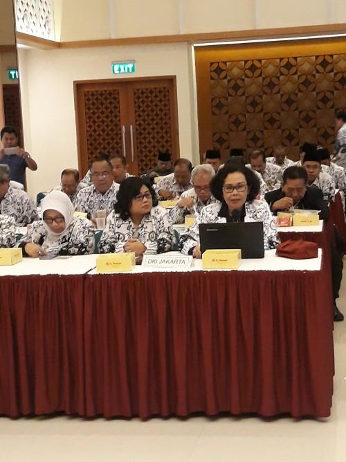 Ketua Umum PGRI, Unifah Rosyidi, Medcom.id/Citra Larasati.