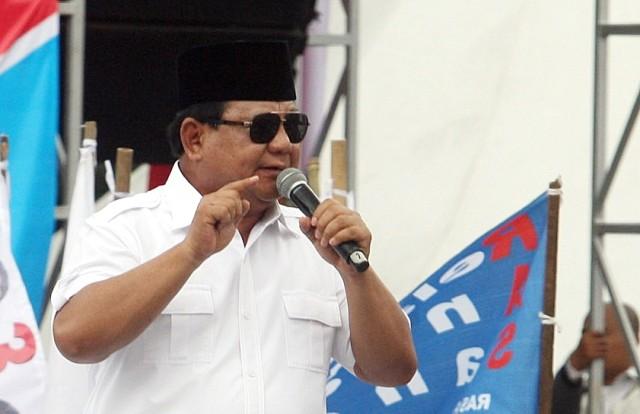 Gerindra Party chairman Prabowo Subianto (Photo:MI/Susanto)