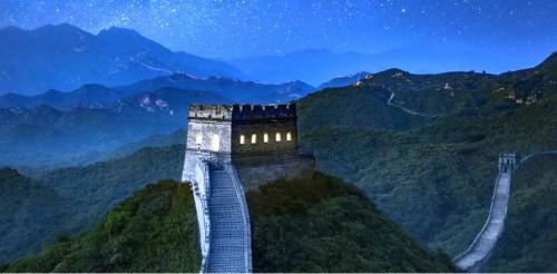 Tembok besar Tiongkok dibangun sebagai benteng untuk