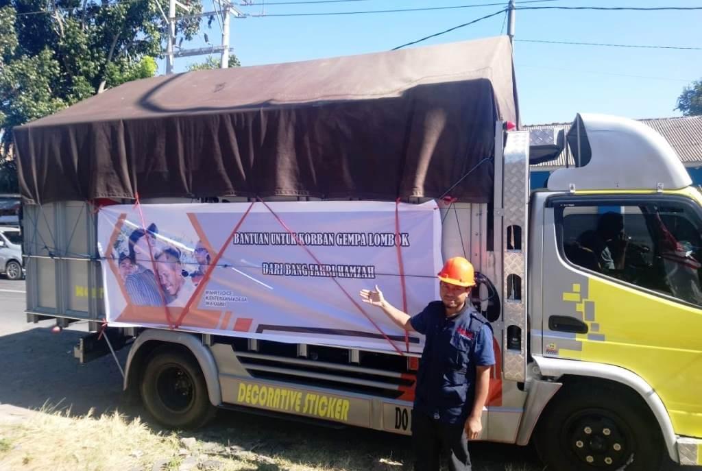 Bantuan untuk korban gempa di Lombok, Nusa Tenggara Barat (Foto:Dok.DPR)