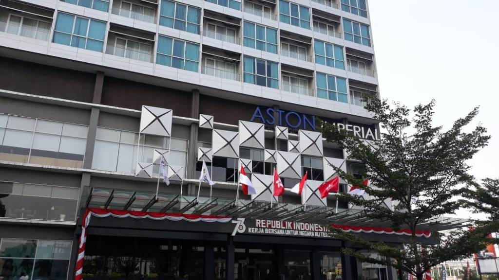 Hotel yang akan jadi tempat menginap kontingen sepak bola Indonesia dan Hong Kong di Asian Games 2018 (Foto: medcom.id/Antonio)